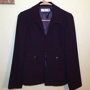 Tahari Arthur S Levine Purple Blazer Jacket